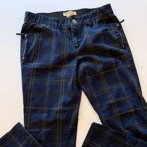 Democracy 14 Skinny jeans with plaid print